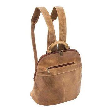 LeDonne Women's Westbury Distressed Backpack DS-8038 Tan - US Women's One Size (Size None)