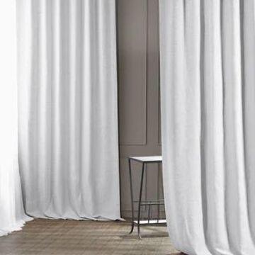 Exclusive Fabrics Chalk Off White Bellino Blackout Curtain (50 X 108 - Chalk Off White)