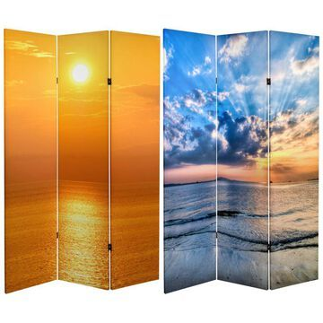 Oriental Furniture 6' Tall Sunrise Room Divider