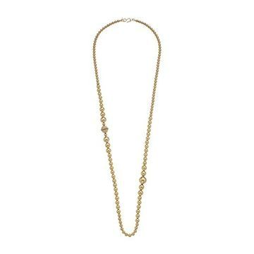 Kenneth Jay Lane 36 Small to Large Ball Beads S Hook Necklace (Gold/Crystal) Necklace