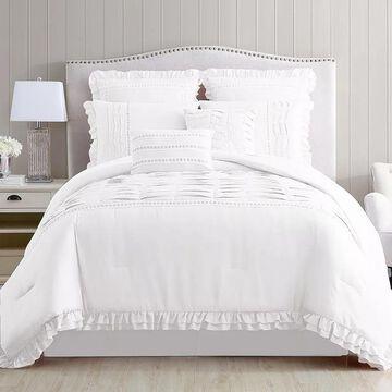 Pacific Coast 8-piece Comforter Set, White, King