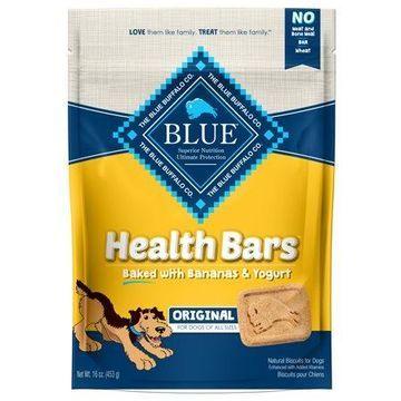 Blue Buffalo Health Bars Banana and Yogurt Dry Dog Treats, 16-oz