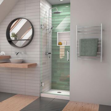 DreamLine Unidoor-LS 72-in H x 25-in W Frameless Hinged Chrome Shower Door (Clear Glass) | SHDR-2025722-01