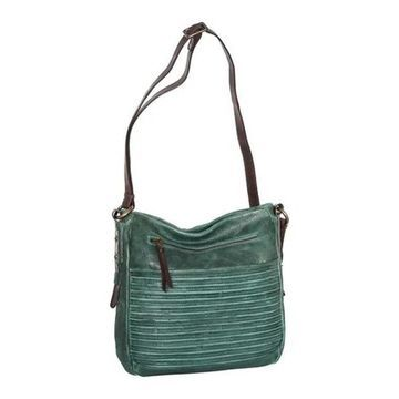 Nino Bossi Women's Kaya Leather Crossbody Bag Green - US Women's One Size (Size None)
