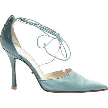 Dior Blue Cloth Heels