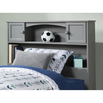 Newport Bookcase Headboard Twin Atlantic Grey