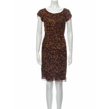 Silk Knee-Length Dress