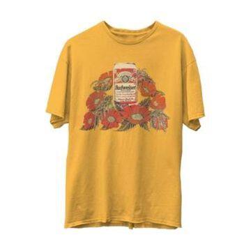Junk Food Budweiser Flowers Short Sleeve T-shirt