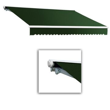 Awntech Galveston 240-in Wide x 120-in Projection Forest Solid Vertical Patio Left Motor Retractable Awning in Green
