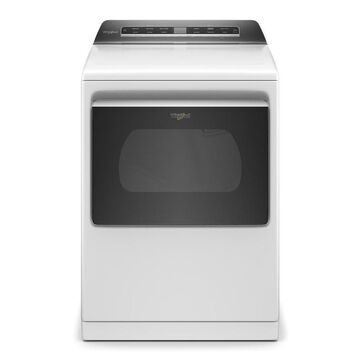 Whirlpool 7.4-cu ft Smart Capable Vented Energy Star Electric Dryer with Steam Cycles - White