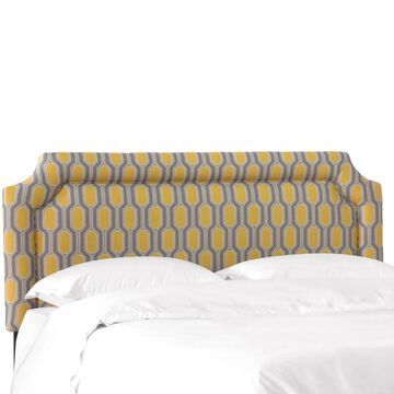 Skyline Furniture Headboard in Hexagon Yellow