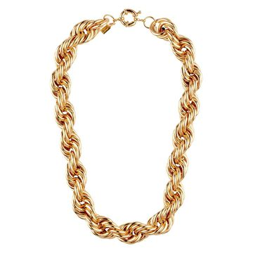 Twist rope-chain necklace