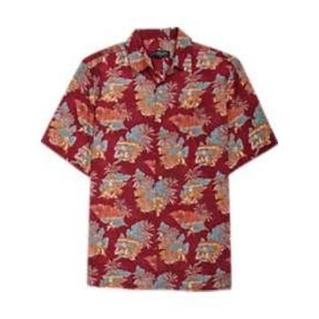 Pronto Uomo Red Tropical Camp Shirt