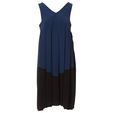 Bottega Veneta Blue Silk Dresses