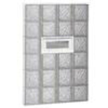 REDI2SET Ice Glass Pattern Frameless Replacement Glass Clear Block Window (Rough Opening: 32-in x 48-in; Actual: 31-in x 46.5-in)