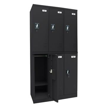 edsal Snap IT 36-in W x 72-in H x 18-in D Black Steel Full Storage Lockers
