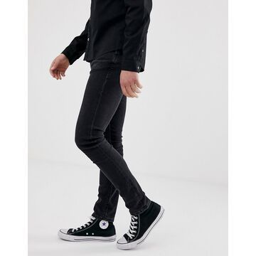 Nudie Jeans Co Skinny Lin skinny fit jeans in black stone power