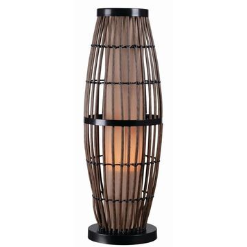 Lavinta Rattan with Black Accents 31-inch Indoor/ Outdoor Table Lamp (Brown)