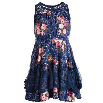 Little Girls Floral Challis Dress, Created for Macy's