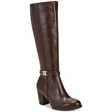 Giani Bernini Womens Raiven2 Leather Almond Toe Knee High