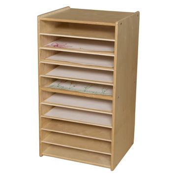 Wood Designs Contender Mobile Paper and Puzzle Storage Center
