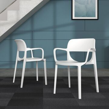 Set of 2 Basyx Prodigy Commercial Grade Stackable Chair with Arms - HON