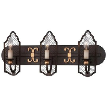 Minka Metropolitan Cortona 3 Light Bath (French Bronze W/ Gold Highlights)