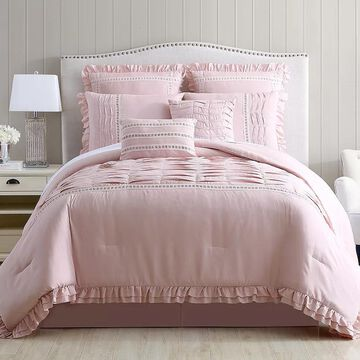 Pacific Coast 8-piece Comforter Set, Pink, King
