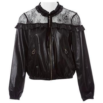 Pinko Black Synthetic Jackets