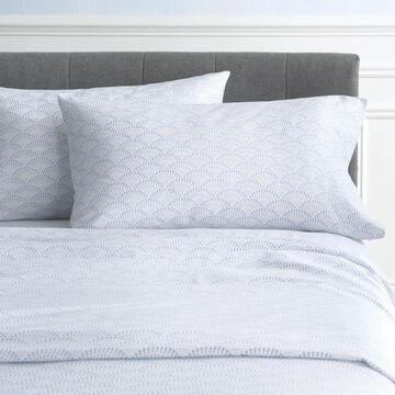 allen + roth King Cotton Bed-Sheet in Blue   JJ-ICSSK03