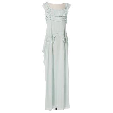 John Galliano \N Green Silk Dresses
