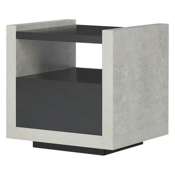 Furniture of America Gare Storage End Table in Black
