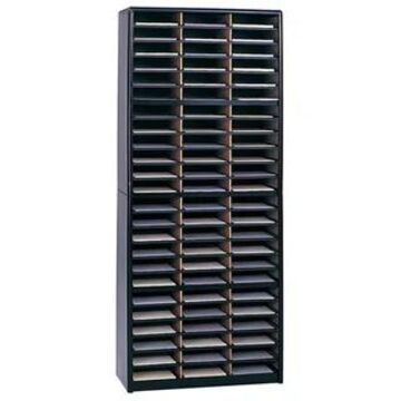 Safco Value Sorter 72 Compartment,Lit. Org., Black-BL, Gray-GR, Medium Oak-MO, Sand-SA (Black)