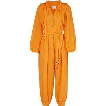 Lisa Marie Fernandez - Poet Linen-blend Gauze Jumpsuit - Saffron