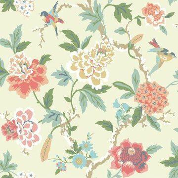 Waverly Candid Moment Wallpaper - Cream
