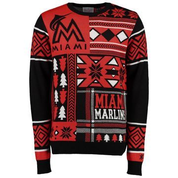Miami Marlins Klew Patches Ugly Sweater - Black