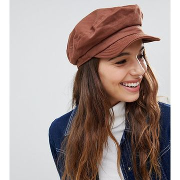 Brixton Unstructured Baker Boy Hat in Chestnut
