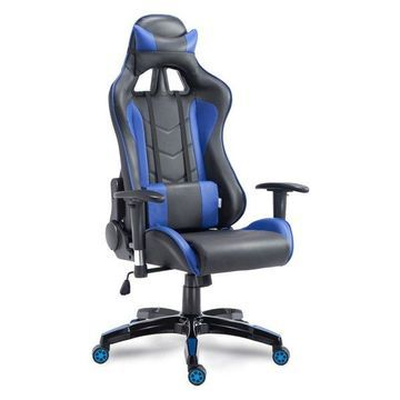 Costway High Back Executive Racing Reclining Chair Swivel PU Leather O
