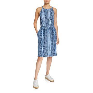Tie-Waist Halter Dress