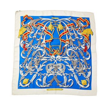 Hermes Le Mors A La Conetable, By Henri D'origny Silk Scarf (Authentic Pre-Owned)