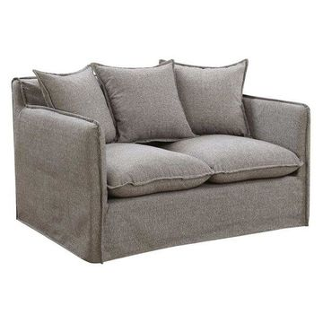 Furniture of America Bellethorne Loveseat with Pillows in Gray