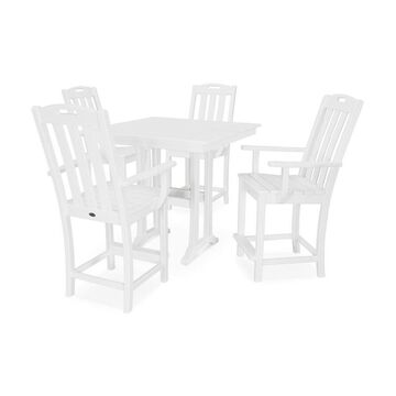 Trex Outdoor Furniture Yacht Club 5-Piece White Frame Dining Patio Dining Set with Dining