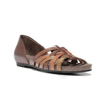 Natural Soul Womens Macomb Leather Open Toe Casual Slide