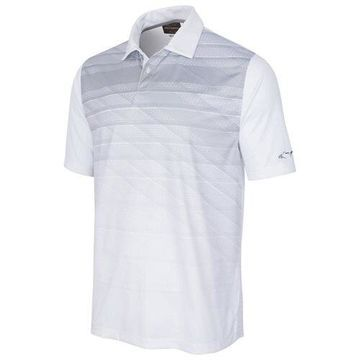 Greg Norman Mens Striped Performance Rugby Polo Shirt