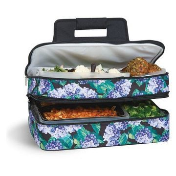 Entertainer Hot and Cold Food Carrier, Hydrangea