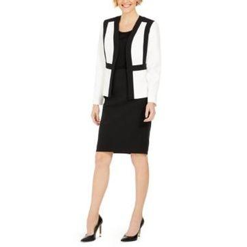 Le Suit Kiss-Front Skirt Suit