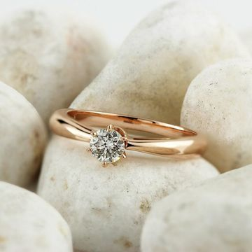 Auriya 1/3ctw Round Solitaire Diamond Engagement Ring 14k Gold 6-Prong