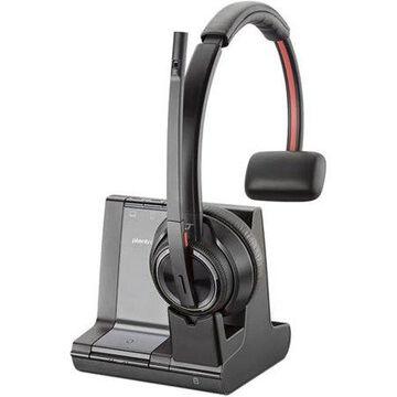 Plantronics, PLNW8210, Savi 8200 Series Wireless Dect Headset System, 1, Black
