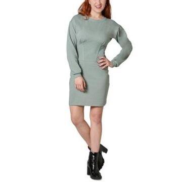Ultra Flirt Juniors' Corset Sweatshirt Dress