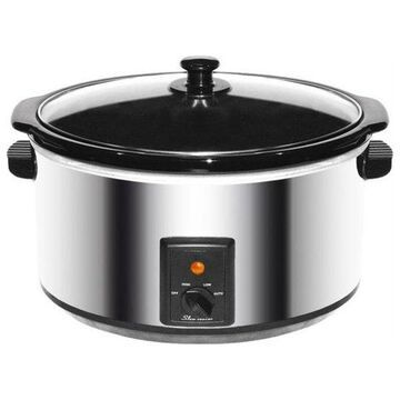 Brentwood 8 qt. Slow Cooker, Stainless Steel Body
